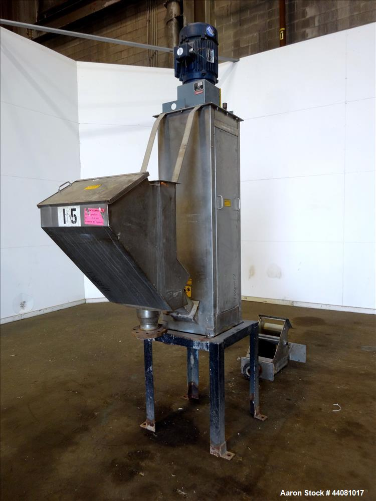 "Used- Carter Day Spin-Away Spin Dryer, Model D312, 304 Stainless Steel. Unit consists of 3 decks of 12"" diameter main screen..."