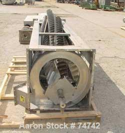 """USED: Carter Day spin dryer, stainless steel, style CZV1. Approximate 14""""diameter x 96"""" long rotor. Requires an approximate ..."""