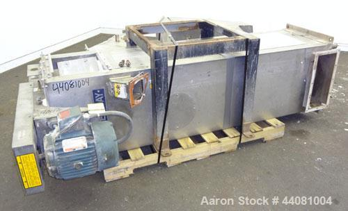 Used- Carter Day Spin-Away Spin Dryer, Model DBA2, 304 Stainless Steel. Driven by a 5hp, 3/60/230/460 volt, 1730 rpm motor. ...