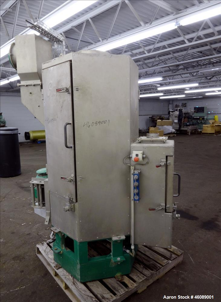 "Used- Gala Spin Dryer, Model 12.2 ECLN, 304 Stainless Steel. 11"" Diameter x 42.5"" long rotor. Driven by a 4kw, 3/50/440 volt..."