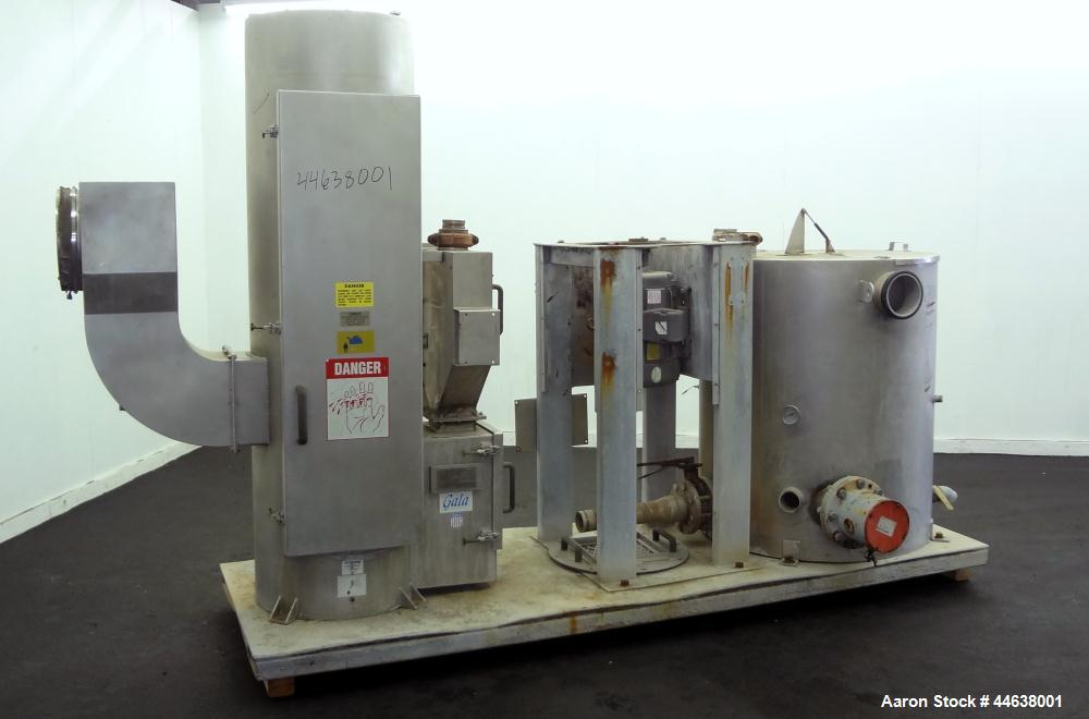Used- Gala Industries Spin Dryer, Model 12.3 ECBF, 304 Stainless Steel. Rotor speed 1017 rpm. Includes side access door, scr...