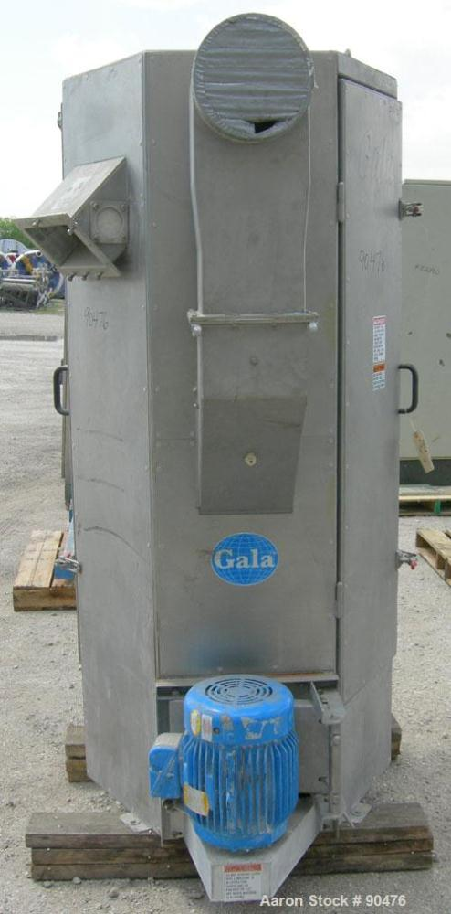"Used: Gala spin dryer, model ECLN-BF 12.3, 304 stainless steel.1017 rpm, (3) Screen sections. Approximate 12"" diameter x 60""..."