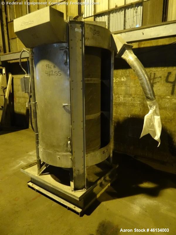 Used- Gala Spin Dryer, Model 201BF, Stainless Steel. Bottom feed, 380 rpm rotor speed, underdriven with 7.5 hp, 230/460 volt...