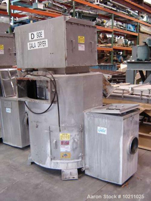 """Used-Gala Dryer Model 32.2BF. Unit is approximately 8' tall as shown in photos. Overall shipping width is 68"""". Motor is 7.5 ..."""