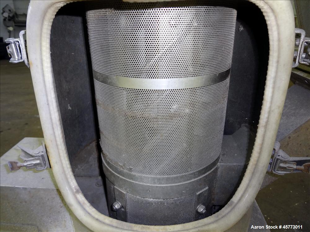Used- Gala Industries Spin Dryer, Model 8.2 BF, driven by an approximate 5 hp, 230-460 volt motor with rotor speed of 1750 r...