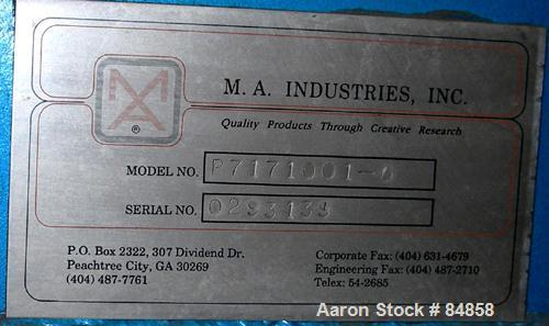 Used- Carbon Steel M A Industries Pellet Cooler, Model P7171001-0,