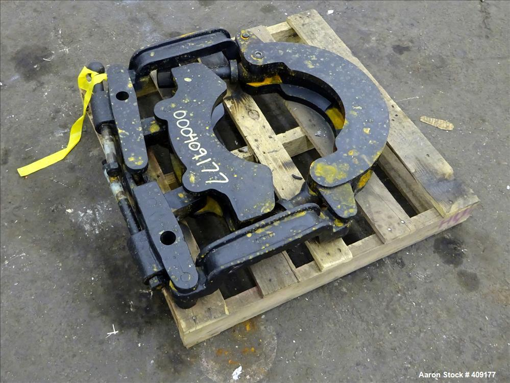 "Used-Extruder Die Clamp, Approximate 6""."