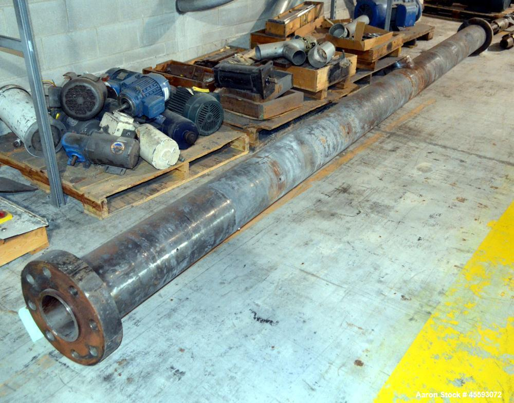"""Used- Davis Standard 6"""" Extruder Barrel. Approximate 38 to 1 L/D ratio, vented, 207-1/4"""" long overall length."""