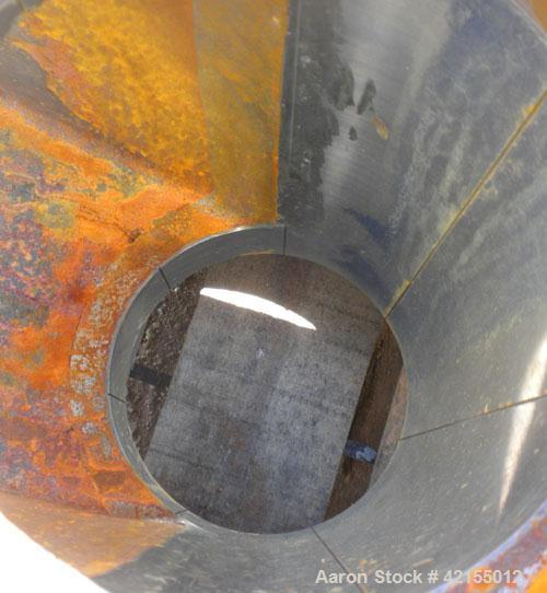 "Used- 6"" Extruder Thrust Housing, Carbon Steel. Approximately 28"" long section, 7 1/4"" flanged opening. 10"" x 8 1/2"" top fee..."