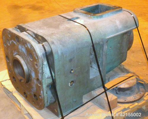 "Used- Prodex 6"" Extruder Thrust Housing, carbon steel. Approximate 43"" long section, 7-1/4"" flanged opening. 10"" x 8"" top fe..."