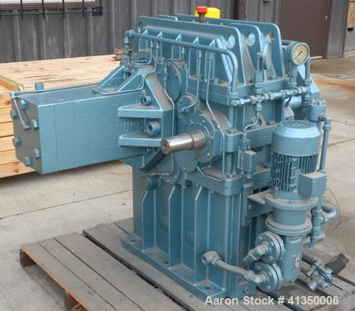 Used- Werner Pfleiderer Co-Rotating Design Gearbox, Type 2A58.5/1750. Last used on a ZSK-70. 4.26:1 ratio.