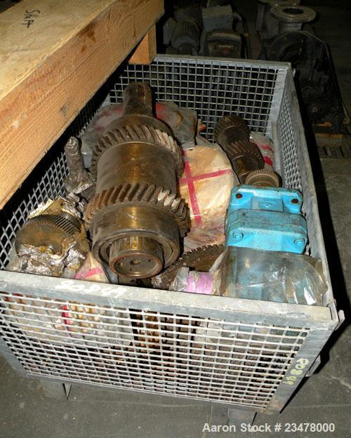 Used- Werner Pfleiderer ZSK120 Twin Screw Extruder Gearbox Gear Parts.