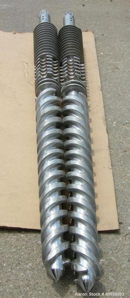 Used- (1) Set of (2) Cincinnati 35mm conical twin screws, serial #T7382/15.