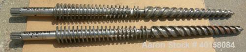 Used-(1) Set of (2) Cincinnati 35mm conical twin screws,