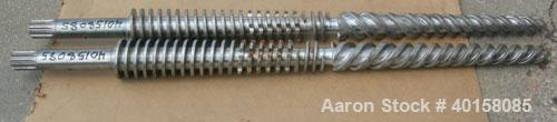 Used- (1) Set of (2) Cincinnati 35mm conical twin screws