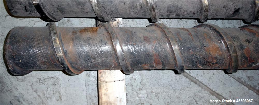"""Used- Davis Standard 6"""" Extruder Screw. Approximate 38 to 1 L/D ratio, 246"""" long overall length."""