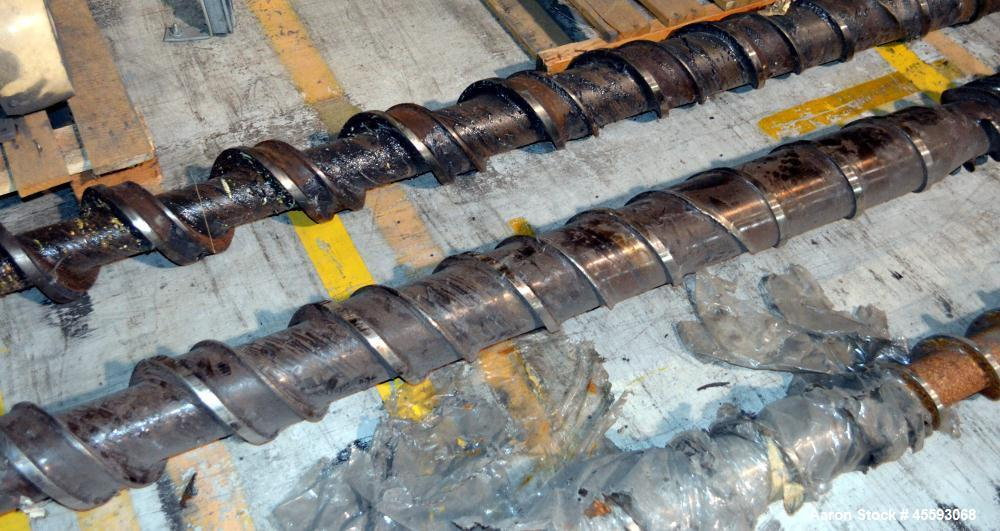 "Used- Davis Standard 6"" Extruder Screw. Approximate 38 to 1 L/D ratio, 246"" long overall length."