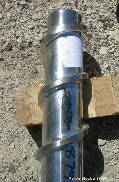 """Used- 4.5"""" Single Screw for Extruder, approximately 34:1 L/D ratio. Overall screw length approximately 171 1/2""""."""