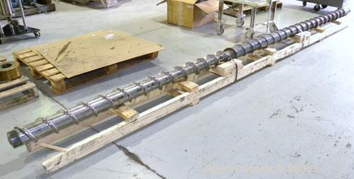 "Used- NRM 5"" Single Shank Extruder Screw"