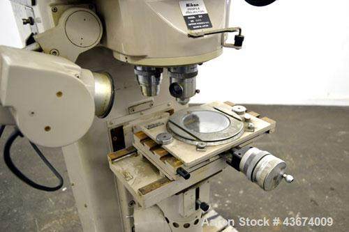 Used- Nikon Optical Comparator Profile Projector Shadowgraph, Model 3C