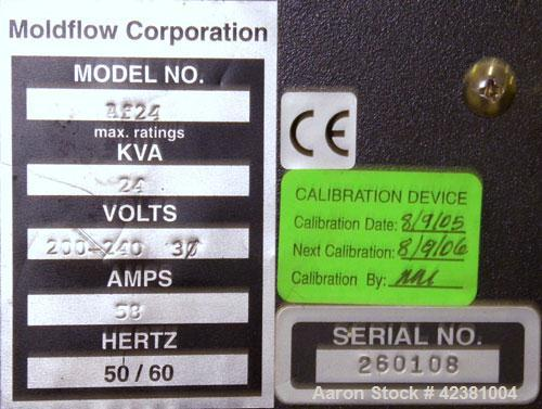 Used- Moldflow Altanium Temperature Controller, Model AF24. Operating ambient temperature 32 to 104 deg F (0 to 40 deg C), s...