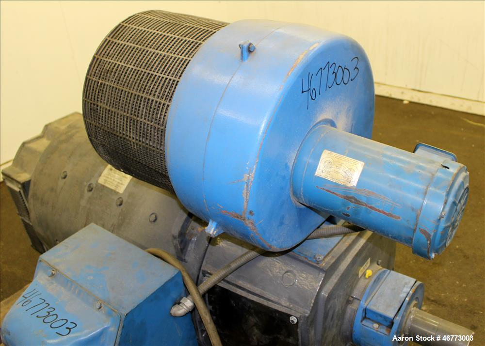 Used- General Electric 400HP DC Motor. 3/500 volt, 1150/1500 rpm. Includes control panel with SSD 590 Analog drive. Last use...
