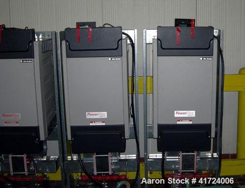 Used- Reliance 300 hp AC motor. 3/60/460 input volts, 1794 output rpm. Includes an Allen-Bradley PowerFlex 700H adjustable f...