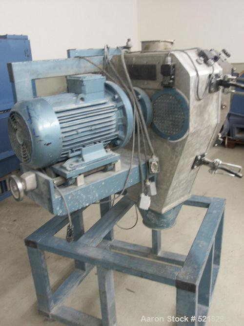 "USED: PME single screw extruder, type 100-35, 35:1 length/depth. 3.9"" diameter (100 mm diameter) screw. Electrically heated,..."