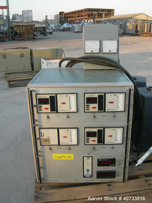 "Used-C.W. Brabender 1"" Single Screw Extruder, type 125-30 HC.  4 zone, approximate 37:1 L/D.  6"" x 6"" feed hopper.  Driven b..."