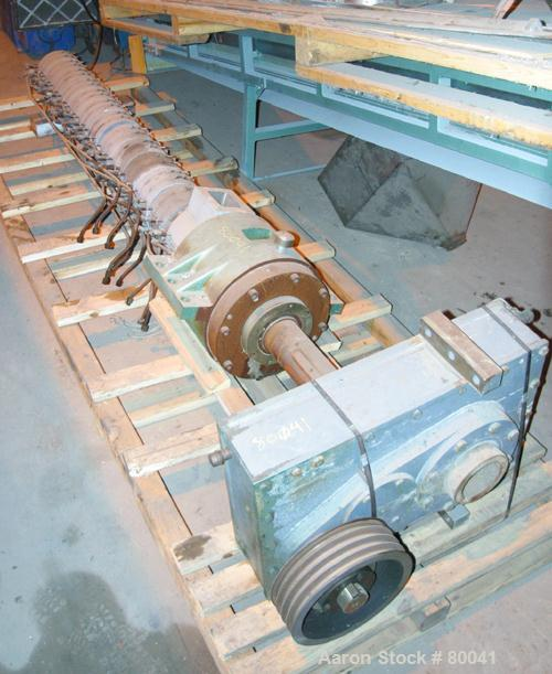 """USED:Single screw extruder barrel, 3"""" diameter, 28:1 L/D, 13 zone,electrically heated, water cooled, 5"""" x 3.5"""" water cooled ..."""