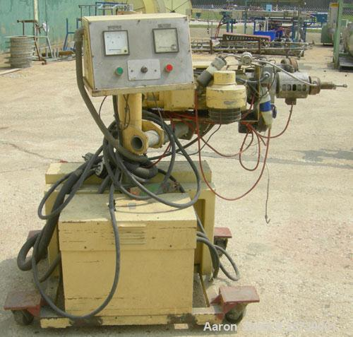 "Used- Actual 1.18"" pedestal mounted single screw co-extruder, model AE30. Approximately 24 to 1 L/D ratio. Electrically heat..."