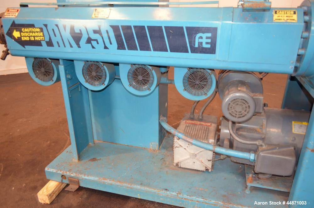 "Used- Akron 2-1/2"" Single Screw Extruder, Model 250"