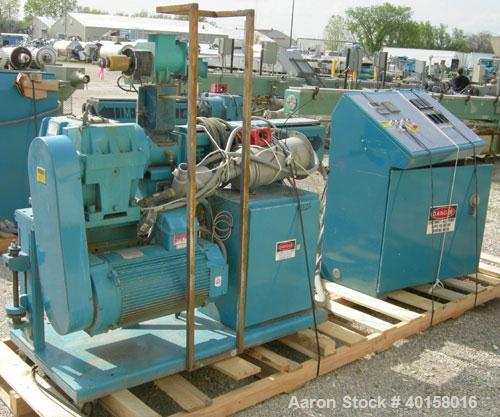"Used- Akron 1 3/4"" Single Screw Extruder, model M-PAK175, approximately 24 to 1 L/D ratio. Electrically heated, air cooled, ..."