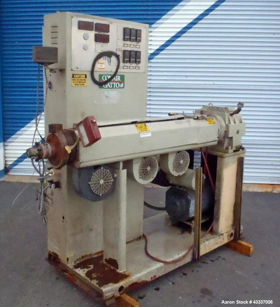 "Used- Akron 2"" Single Screw Extruder, Model PAC 200"