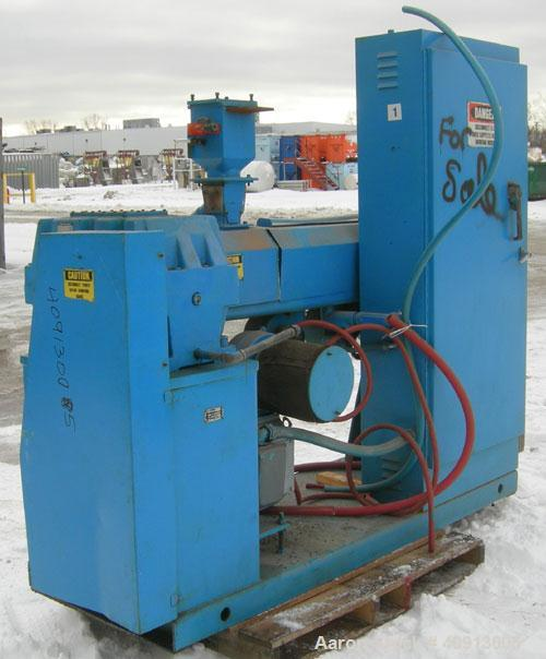 """Used- Akron 2 1/2"""" Single Screw Extruder Model PAK 250. Approximate 24:1 L/D ratio. Electrically heated, air cooled 4 zone n..."""