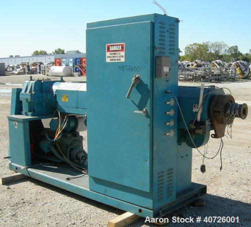 Used- Akron 3 1/2' Single Screw Extruder, model PAK350