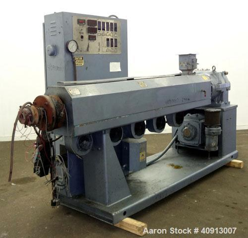 "Used- Akron 3 1/2"" Single Screw Extruder, Model PAK350"