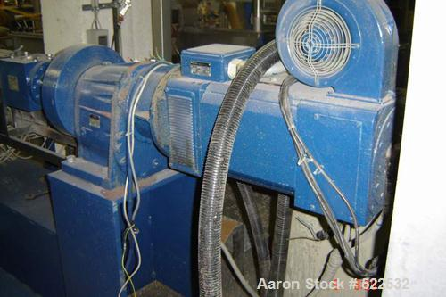 USED: Axon single screw extruder, type BX45-PSE. Material of construction is carbon steel, 30:1 L/D. 45 mm diameter. Electri...