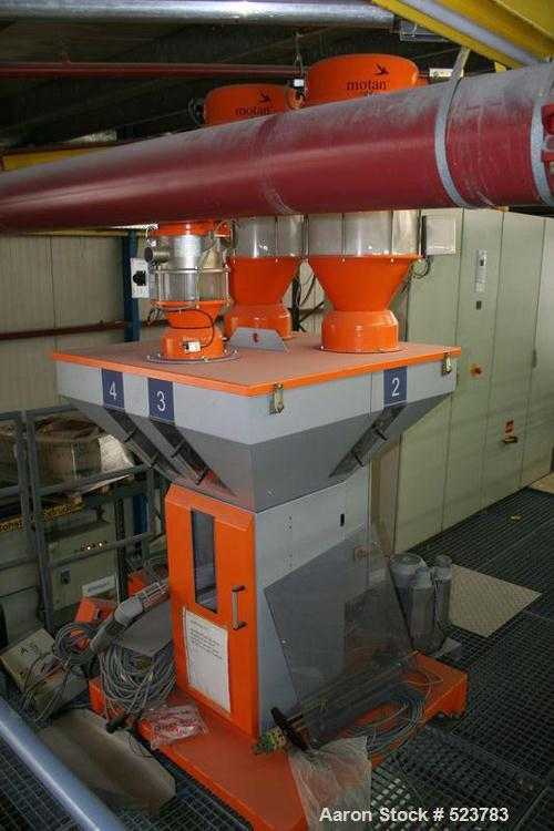 "USED: Battenfeld/Gloenco single screw extruder. Screw diameter 4.72"" (120 mm), excluding degassing pump, excluding die head...."