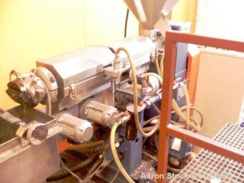 Used-Bausano Lab Size Single Screw Extruder, type SD30/30. 30 mm, 26:1 L/D. Electrically heated, air cooled barrel, 4 zones....