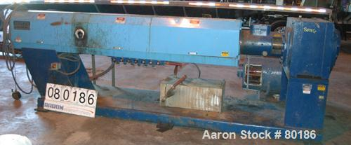 """USED: Berlyn 4.5"""" single screw extruder, model 4.5"""" extruder. 30:1 L/D6 zone electrically heated, water cooled. 4-1/2"""" diame..."""