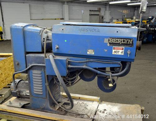 "Used- Berlyn 1-1/2"" Single Screw Extruder. Approximate 30 to 1 L/D ratio. Electrically heated, air cooled 4 zone side vented..."