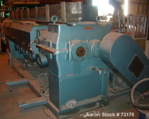 "USED- Berlyn 4.5"" Single Screw Extruder, Model 4.5"". 30:1 L/D 6 zone electrically heated, water cooled. 4-1/2"" diameter wate..."