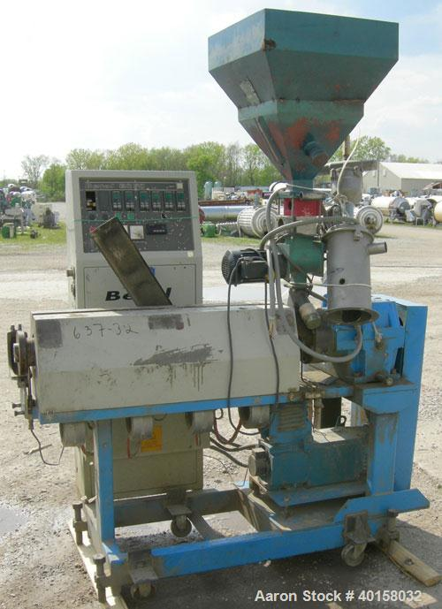 Used- Betol 1.9' (50mm) Single Screw Extruder, Model BC50