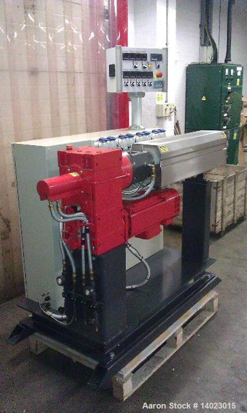 "Used-BMHT4525 Boston Mathews Single Screw Extruder, 1.7"" (45mm), L/D 25:1, main motor 24HP (18 kW), control cabinet, Eurothe..."