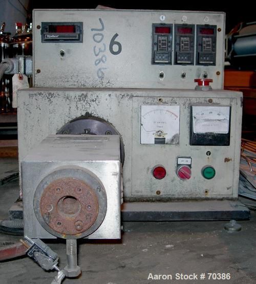"""USED- Brabender Instrumentss Single Screw Extruder, 3/4"""", Type 16-02-000. 16:1 L/D ratio, electrically heated, air cooled, 1..."""