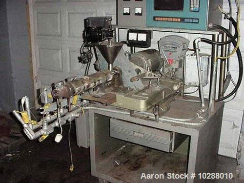 "Used-3/4"" Brabender Lab Extruder, 24:1 L/D. Electrically heated barrel, water cooled, 3 barrel zones, venged barrel, jackete..."