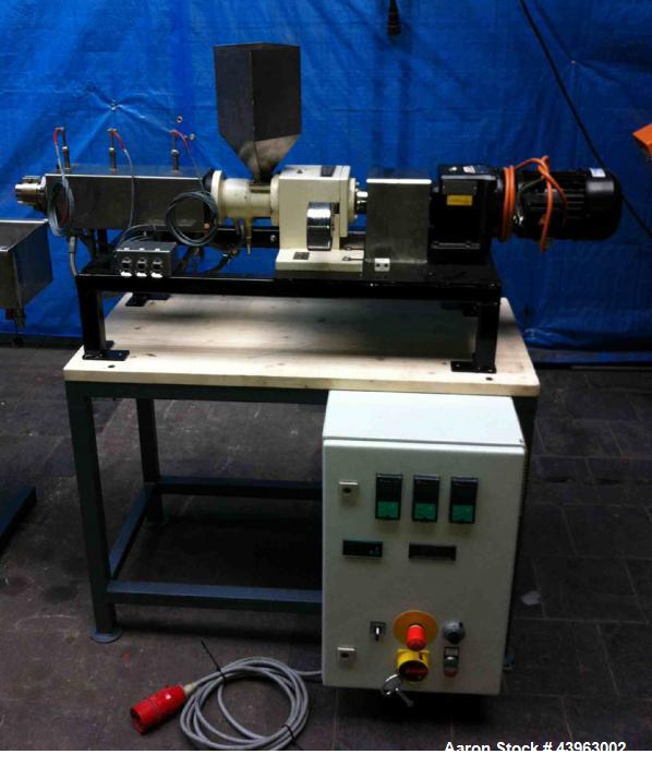 "Used-Brabender Lab Size Granulation Line comprised of (1) extruder 0.75"" (19 mm) diameter, 24 L/D, with water cooling and 2...."