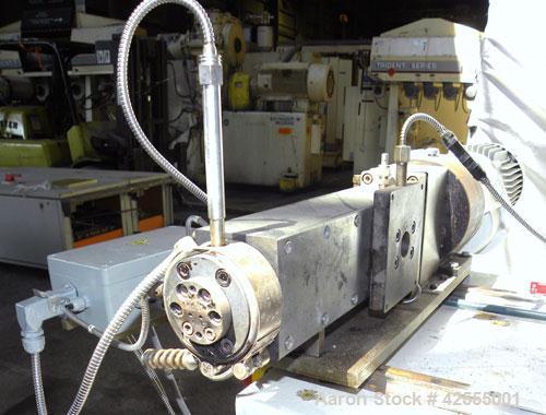 Used- Buss Laboratory Ko-Kneader, Model MKS 30-18 / E 40. 30mm Diameter single screw, 18 to 1 L/D ratio. Clam shell type bar...