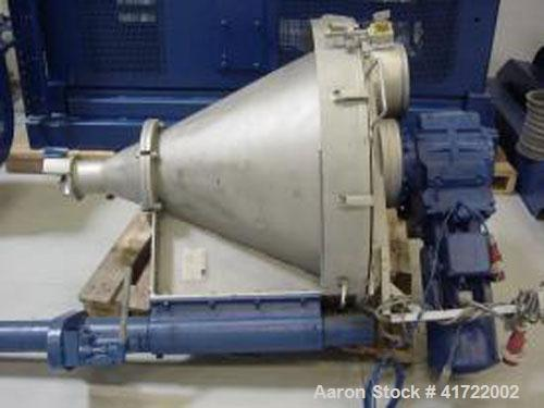 "Used-Buss PLK 100 Single Screw Extruder. With 3.9"" (100 mm) screw, 7 L/D ratio, 50-350 screw speed, 125 hp (65 kW) motor. Ne..."